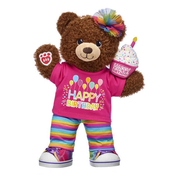 Birthday Bear Rainbow Pink Gift Set, , hi-res