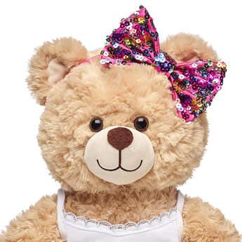 rainbow sequin headband teddy bear clothes
