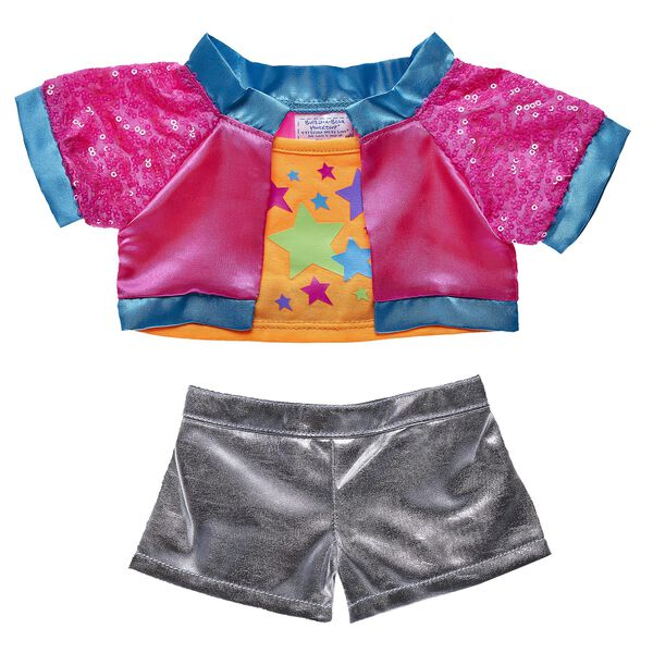 Honey Girls Neon Jacket & Shorts Set 2 pc., , hi-res