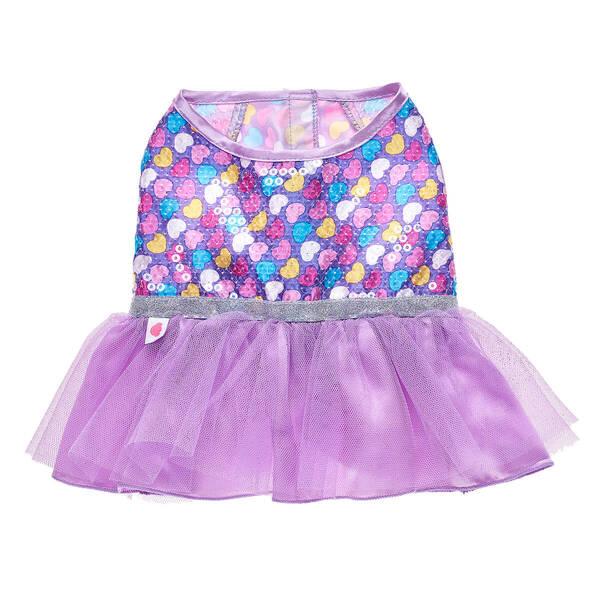 Purple Hearts Dress - Build-A-Bear Workshop®