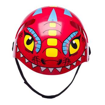This fearsome helmet will help your furry friend's noggin stay protected while skateboarding and taking on extreme sports. The red helmet features a dragon face design, ear holes and a chin strap.