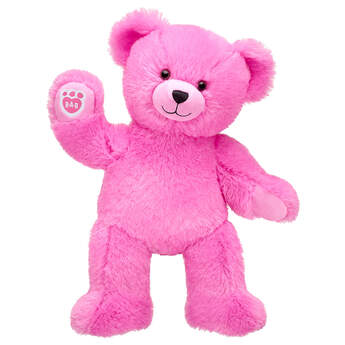 Online Exclusive Fluffy Pink Bear, , hi-res