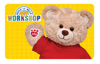 Give the gift of FUN! With a Build-A-Bear Workshop gift card, it's easier than ever to send big bear hugs to someone special.