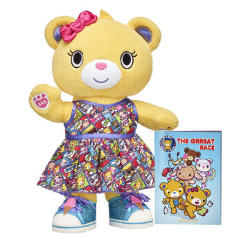 This colourful Kabu kitten is always in motion! Catlynn looks cute as can be in this Kabu gift set. Her skegging outfit and cotton candy shoes and wristie provide a sweet look. Choose this active, fitness-loving kitty for a PAWsome gift! <p>Price includes:</p>  <ul>    <li>Kabu™ Catlynn</li>     <li>Kabu™ Catlynn Skegging Set 2 pc. </li>    <li>Kabu™ Cotton Candy Sneakers </li>    <li>Kabu™ Cotton Candy Wristie</li> </ul>
