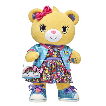 <ul>    <li>Kabu™ Bearnice</li>     <li>Kabu™ Comic Strip Dress </li>    <li>Kabu™ Blue Bomber Jacket </li>    <li>Kabu™ Ice Cream Sneakers</li>    <li>Kabu™ Rainbow Purse</li> </ul>