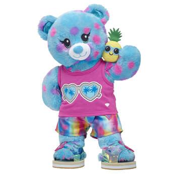 Blue Polka Dot Bear Summer Gift Set, , hi-res