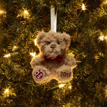 2018 Teddy Bear Ornament, , hi-res