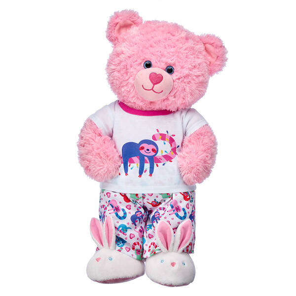 Online Exclusive Pink Cuddles Teddy Sloth PJ Gift Set, , hi-res