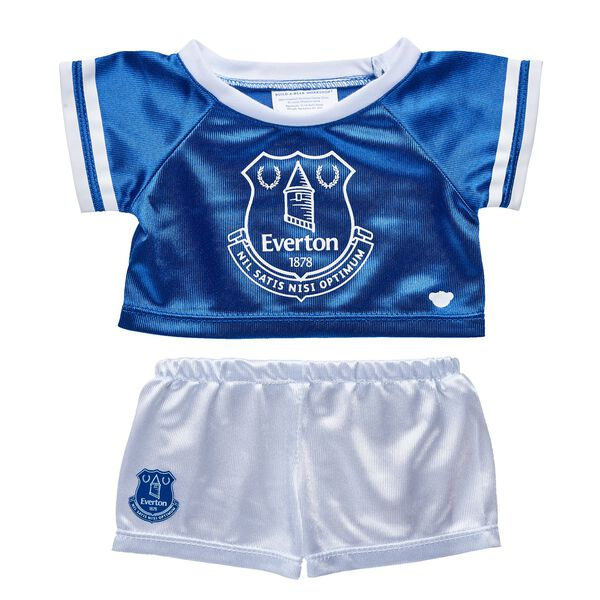 Goal! Cheer on Everton F.C. with this blue and white football jersey that's the perfect size for your furry friend!