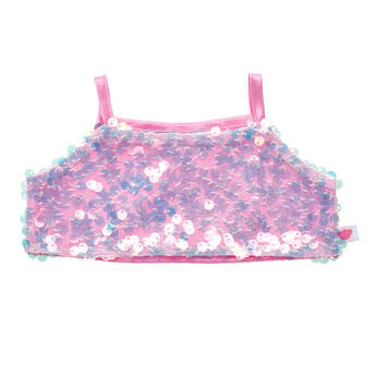 Online Exclusive Iridescent Sequin Cropped Tank Top - Build-A-Bear Workshop®