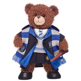 Harry Potter Bear Ravenclaw Gift Bundle with House Robe, Scarf, Hogwarts Skirt & Wand, , hi-res