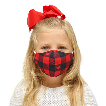Child-Size Buffalo Check Face Mask - Build-A-Bear Workshop®
