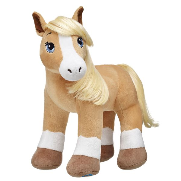 Horses & Hearts Riding Club Palomino American Quarter Horse is a tan horse with a blonde mane and tail. Palomino American Quarter Horses are known for being gentle and great for trail riding. They can run up to 90 km per hour! Personalise it with Horses & Hearts Riding Club accessories for the ultimate gift.