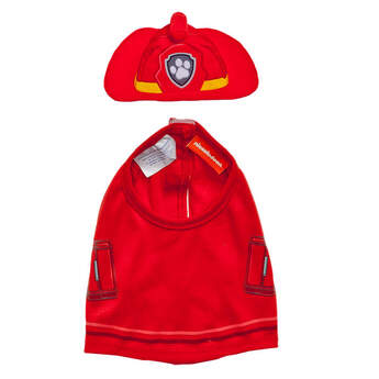 Marshall, the Dalmatian firedog from PAW Patrol, looks great in his official uniform. His Vest and Hat Set are fire engine red with lots of details.