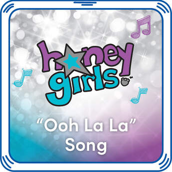 """Add Teegan from the Honey Girls """"Ooh La La"""" song to any furry friend. Dance along! This song is all about fashion, fun, and adventure. Hear this Honey Girls song with every hug when you add it to any furry friend."""