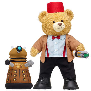 Online Exclusive Doctor Who Bear Eleventh Doctor Dalek Gift Set, , hi-res