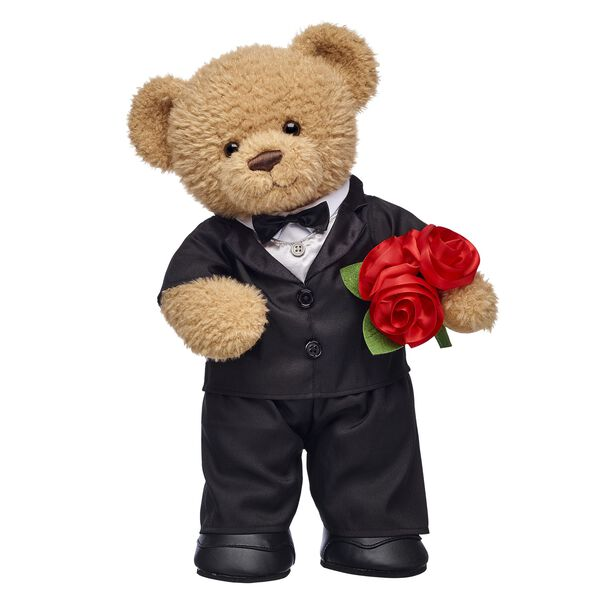 Online Exclusive Crumb Cake Bear with Bouquet Gift Set, , hi-res
