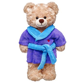 Purple Plush Robe, , hi-res