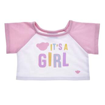 """Share the most exciting news with an adorable T-shirt that's the perfect size for any furry friend! This cute tee has light pink sleeves and a charming """"It's A Girl"""" graphic on the chest. Whether you're doing the big reveal yourself or giving this special T-shirt as a gift, this is the perfect choice for making an unforgettable memory."""