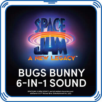 Online Exclusive Space Jam: A New Legacy Bugs Bunny 6-in-1 Sound - Build-A-Bear Workshop®