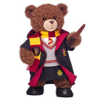 Harry Potter Bear Gryffindor Gift Bundle with House Robe, Scarf, Hogwarts Skirt & Wand, , hi-res