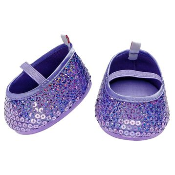 Purple Sequin Flats, , hi-res