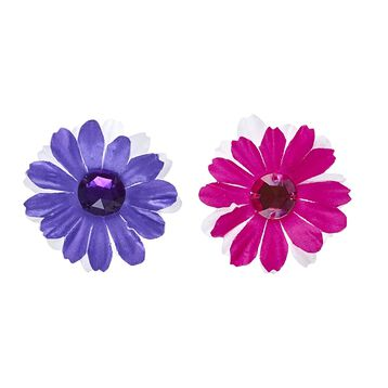 Flower Gem Bows 2 pc., , hi-res