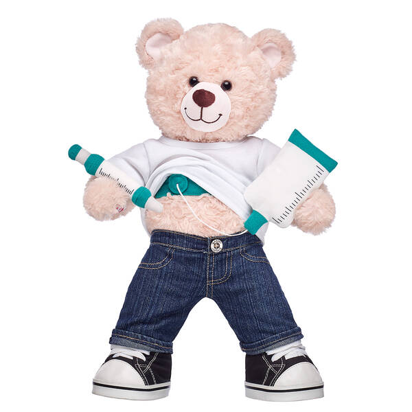 Online Exclusive Happy Hugs Teddy Medical Port Kit Gift Set, , hi-res