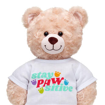 Online Exclusive Stay PAWsitive T-Shirt  - Build-A-Bear Workshop®