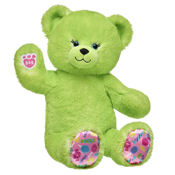lime green candy pop teddy bear sitting