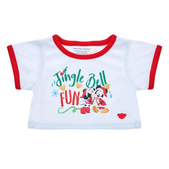 Online Exclusive Disney Mickey & Minnie Christmas T-Shirt - Build-A-Bear Workshop®