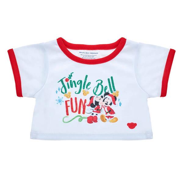 Online Exclusive Disney Mickey & Minnie Christmas T-Shirt - Build-A-Bear Workshop®