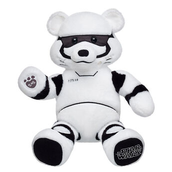 Protect the Empire with your very own exclusive Stormtrooper™ Bear. This collectible Star Wars bear has white fur with black accents. © & ™ Lucasfilm Ltd.