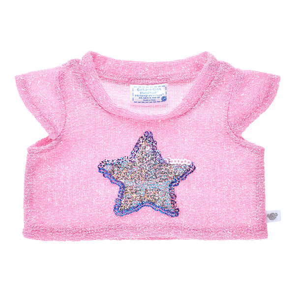 Pink Sequin Star Top, , hi-res