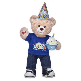 Happy Hugs Teddy Blue Cupcake Birthday Gift Set, , hi-res