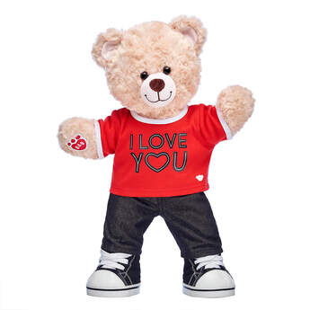 Happy Hugs Teddy I Love You Gift Set, , hi-res