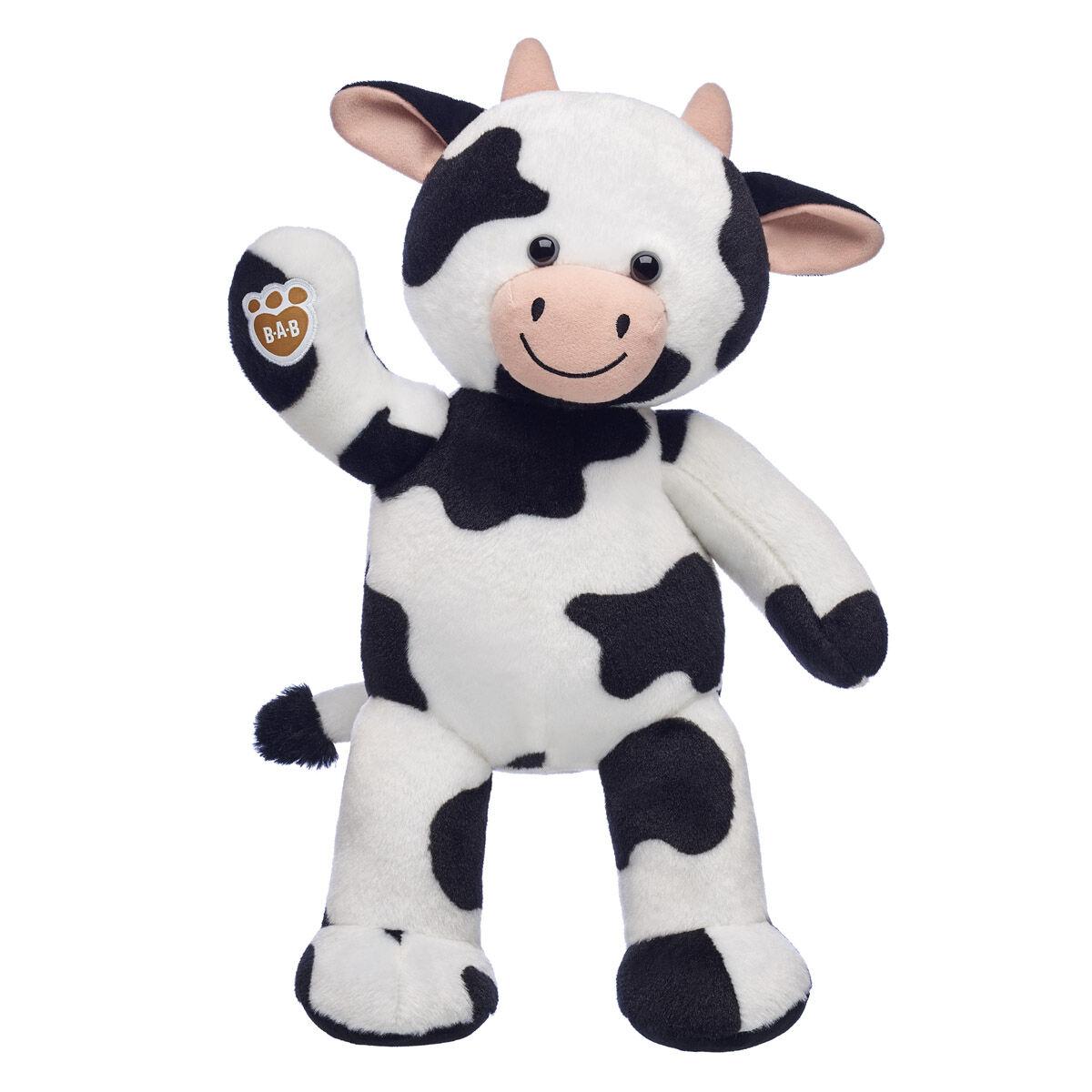 Cow Plush Teddy Black and White Kids Farm Animal Soft Newborn Baby Plush Toy UK