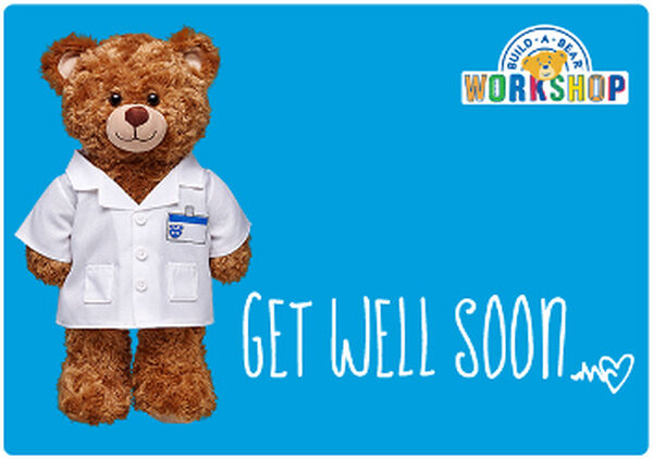 Send beary warm wishes for a speedy recovery with an E-Gift Card to Build-A-Bear Workshop!