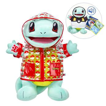 Add Squirtle to your Pokémon team! With its advantage of swimming at high speeds, this Water-type Pokémon is an absolute must-have for any Pokémon Trainer. With exclusive outfits and sounds that are only available online, this complete set will delight Pokémon fans of all ages!  © 2017 Pokémon. © 1995–2017 Nintendo/Creatures Inc./GAME FREAK Inc. TM, ©, and character names are trademarks of Nintendo.  This item cannot be purchased unstuffed, nor can stuffing adjustments be made. A sound or scent cannot be placed inside this pre-stuffed item.