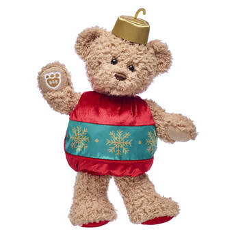 Timeless Teddy is getting in the spirit this Christmas! This adorable Christmas ornament teddy bear gift set is a timeless way to give big hugs to someone special.