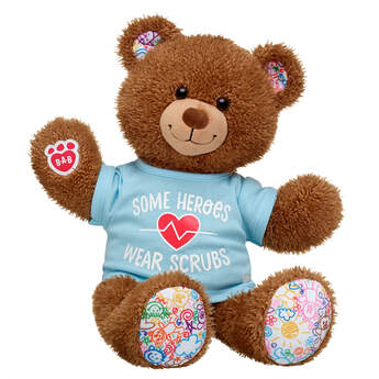 Online Exclusive Hearts 'n' Hugs Teddy Hero Scrubs Gift Set, , hi-res