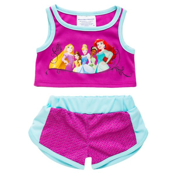 Now your furry friend can get active in Disney Princess style! This outfit features a sleeveless tee and sporty workout shorts.© Disney
