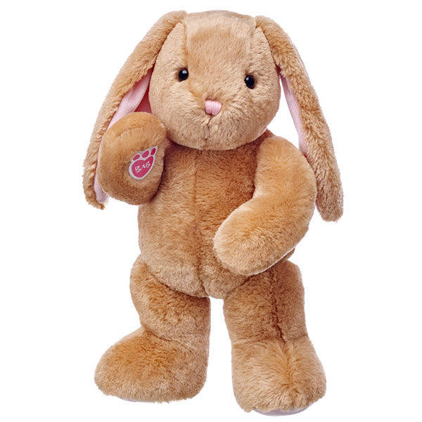 bunny stuffed animal plush standing and waiving