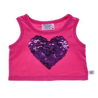 Best friends FURever! This cute pink tank top features a purple sequin heart in the middle. The sequins are reversible and reveal a silver BFF heart when you flip them! Personalise a furry friend to make the perfect gift. Shop online or visit a store near you!