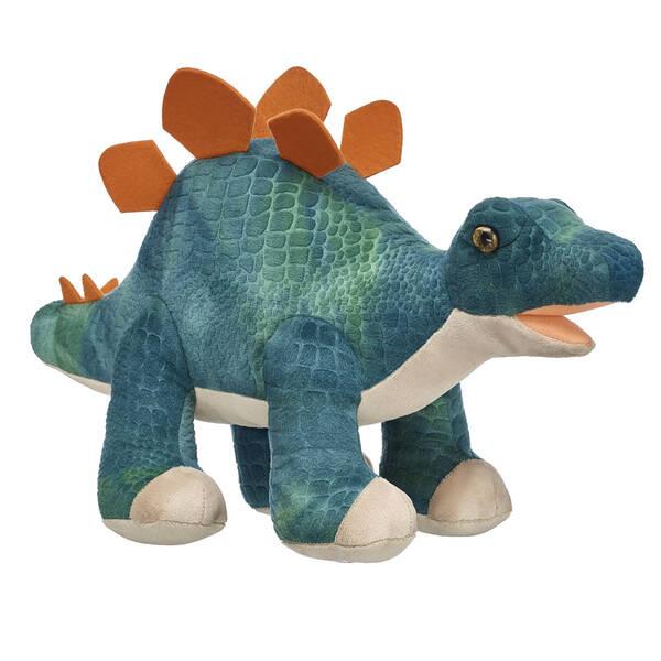 green plush stegosaurus stuffed dinosaur
