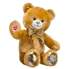 Online Exclusive Lucky Hugs Bear with Gold Bow, , hi-res