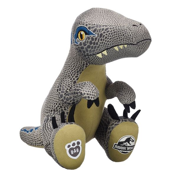 Get ready to run with Velociraptor Blue! Make-Your-Own Velociraptor Blue is a clever girl who knows a thing or two about adventure. Jurassic World is a trademark and copyright of Universal Studios and Amblin Entertainment, Inc. Licensed by Universal Studios. All Rights Reserved.