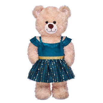 Green & Gold Christmas Dress - Build-A-Bear Workshop®