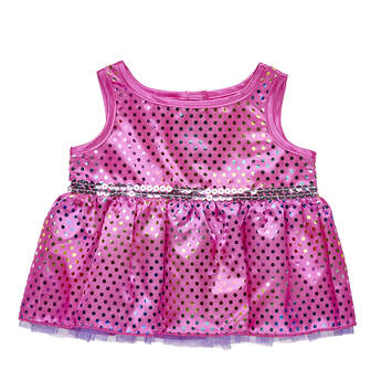 Sparkly Rainbow Polka Dot Dress - Build-A-Bear Workshop®