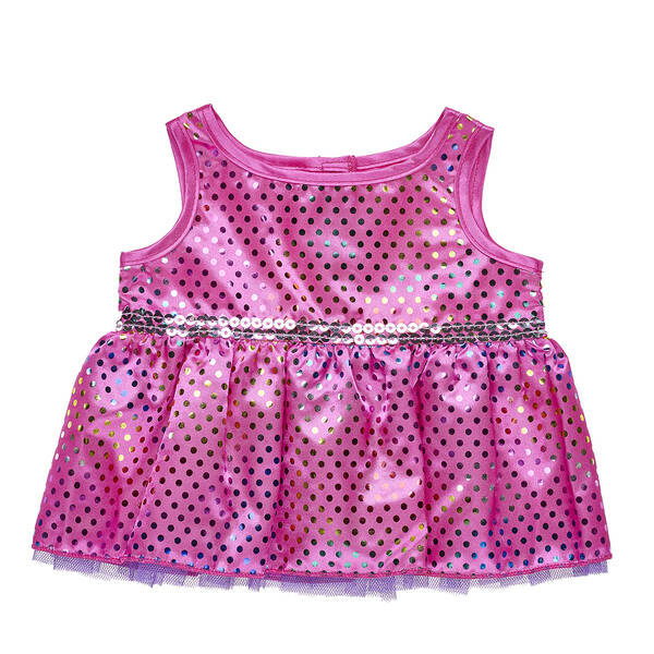 Sparkly Rainbow Polka Dot Dress - Build-A-Bear Workshop®